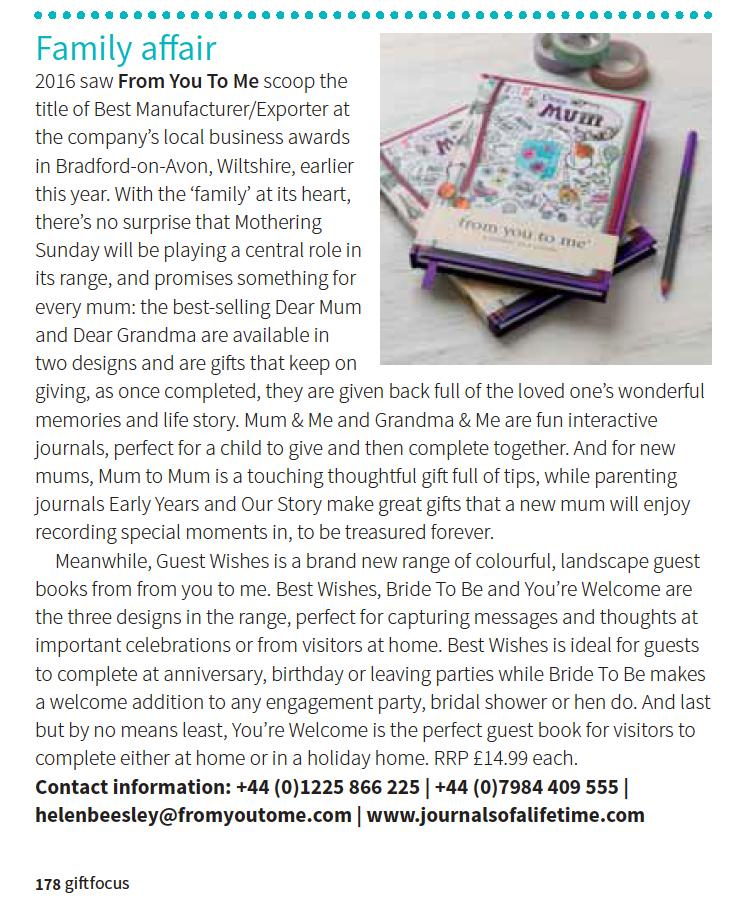 Gift Focus Jan/Feb 2017 Editor's Picks