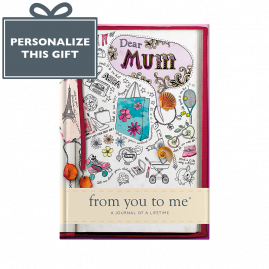 Dear Mum memory book, sketch cover, from you to me