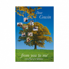 Dear Cousin hardback guided memory journal by from you to me