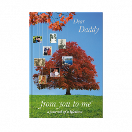 Dear Daddy hardback guided memory journal by from you to me