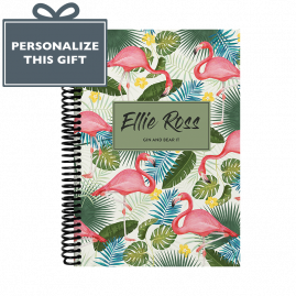 Personalised Flamingo Combined Diary & Notebook - Cream by from you to me