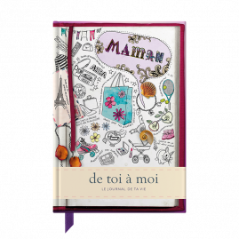 French Memory Book for Mum sketch cover from you to me