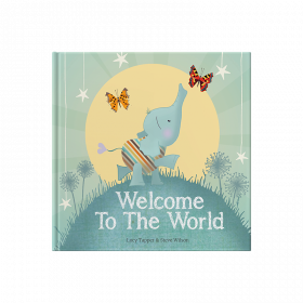 Welcome To The World hardback children's book cover keepsake gift book for a new baby