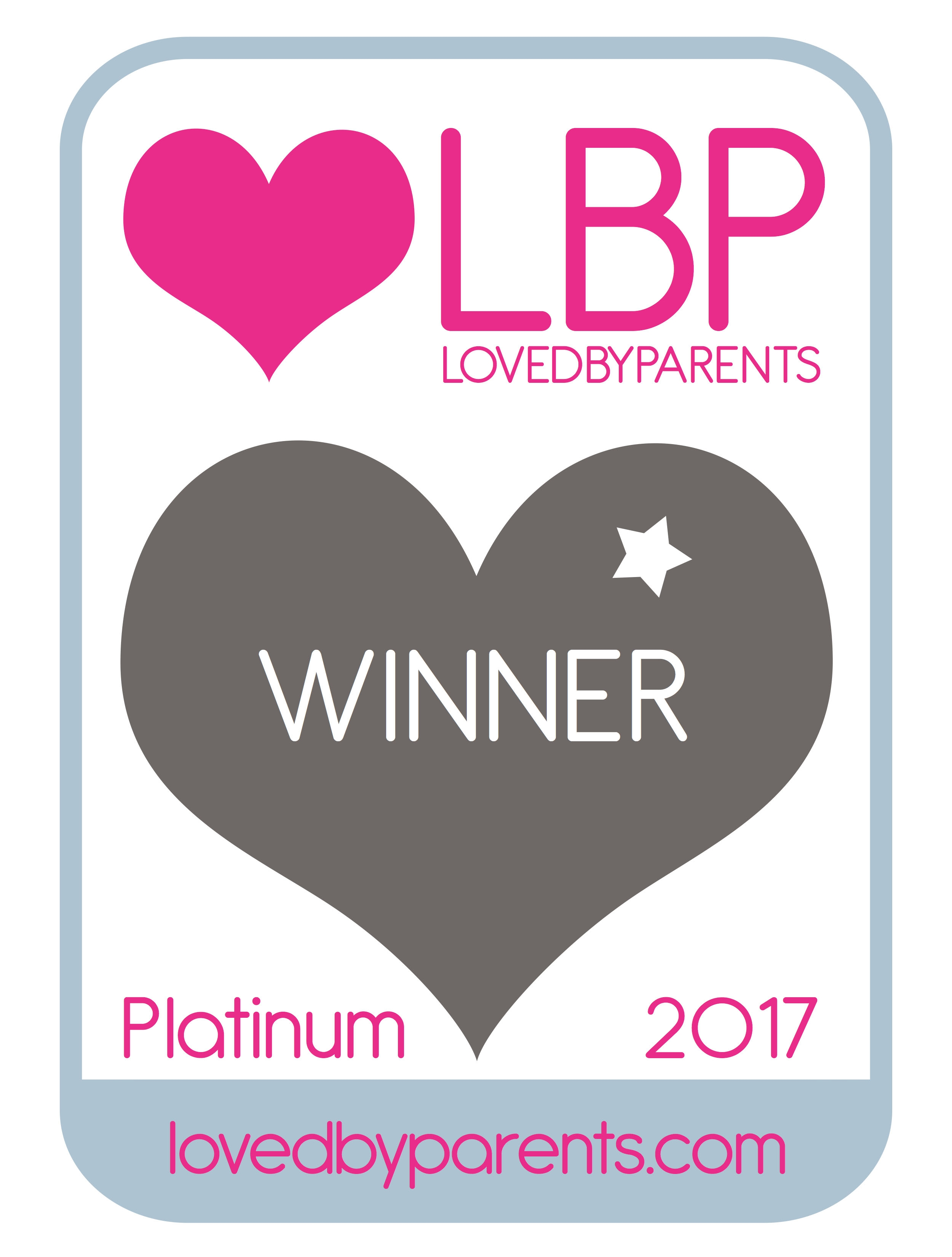 Loved by Parents 2017 Platinum Winner Logo