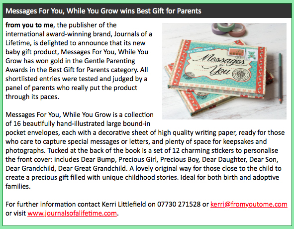 Messages for You While You Grow Giftware Review